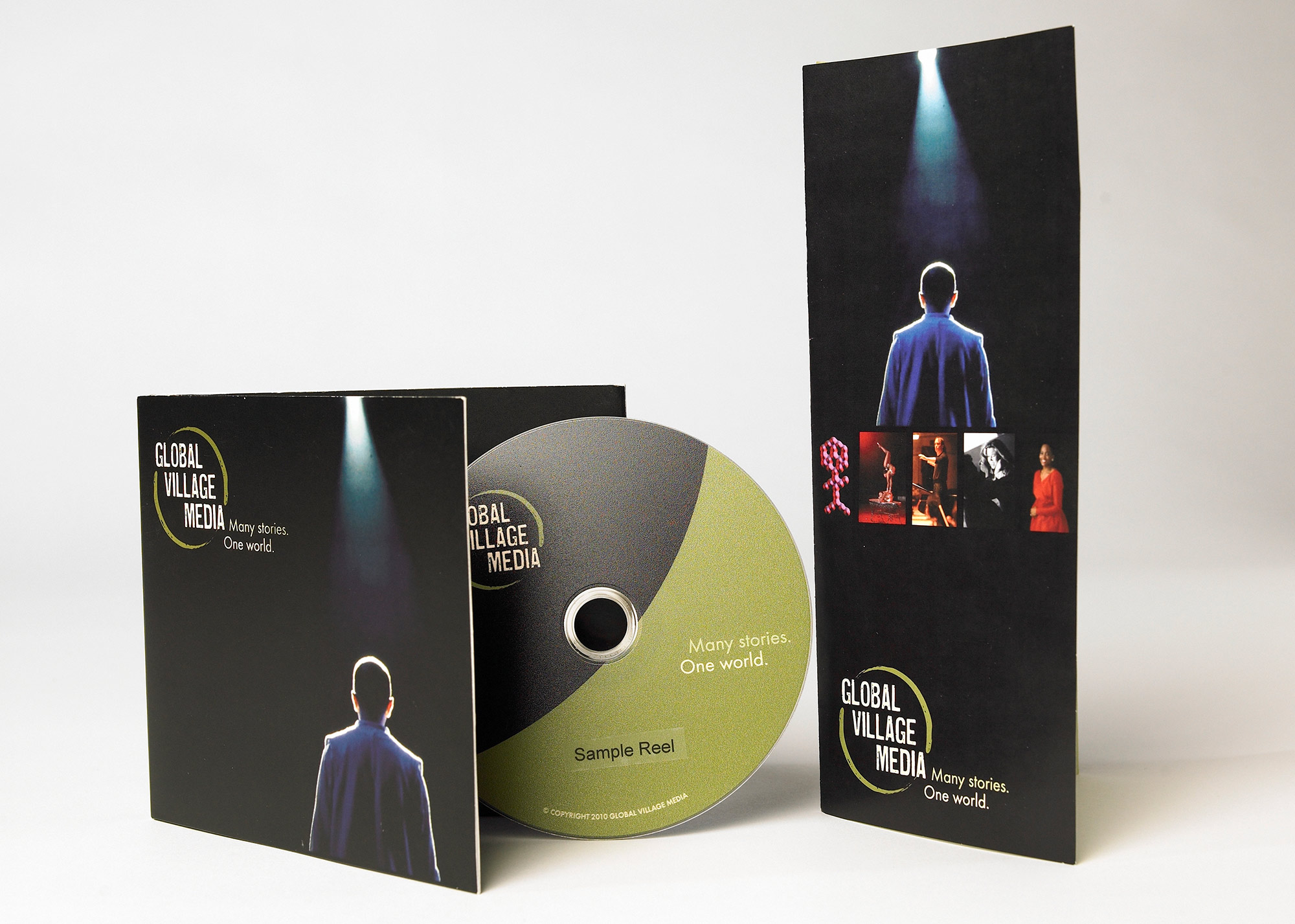 Global Village Media Branding + DVD Packaging + Brochure
