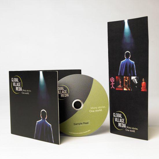 Global Village Media Branding + Outer Packaging + Brochure by Melissa Tatge