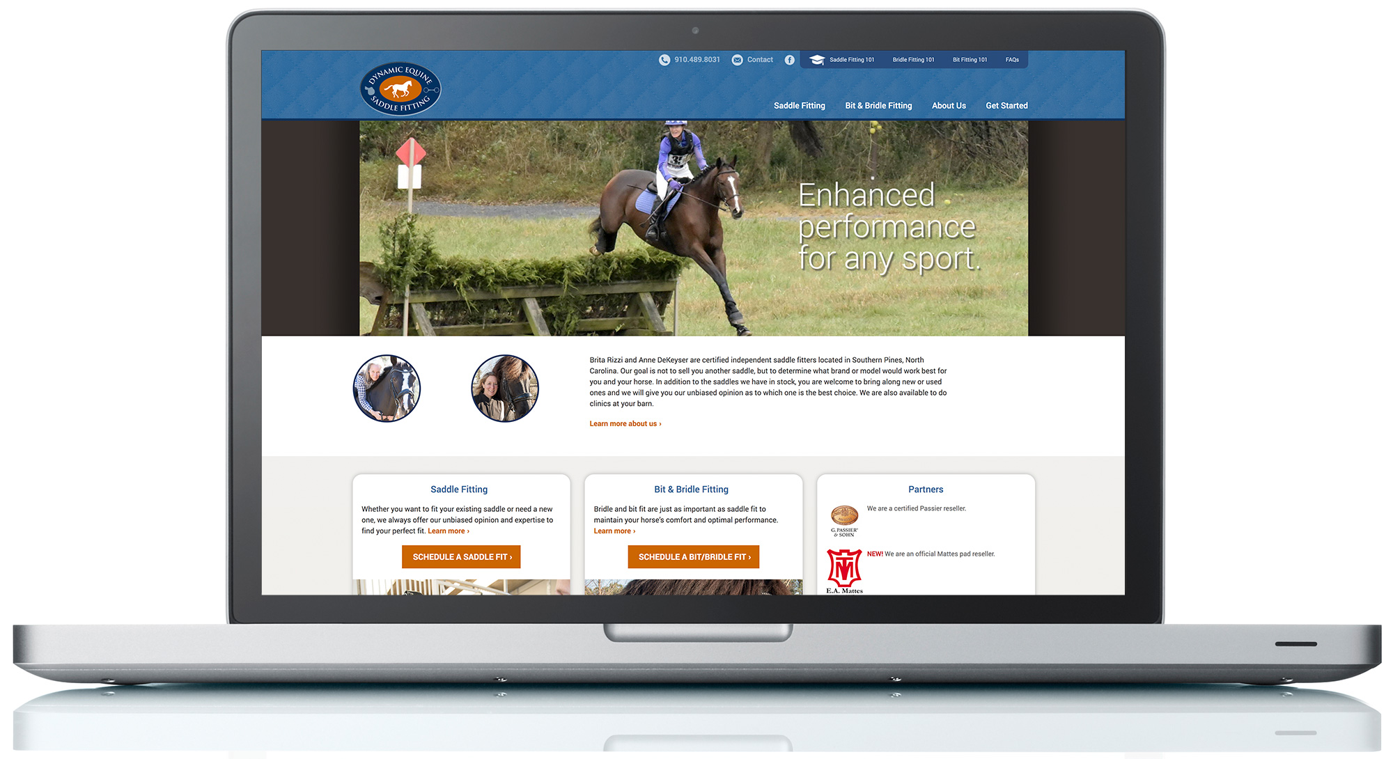 Dynamic Equine Saddle Fitting Website
