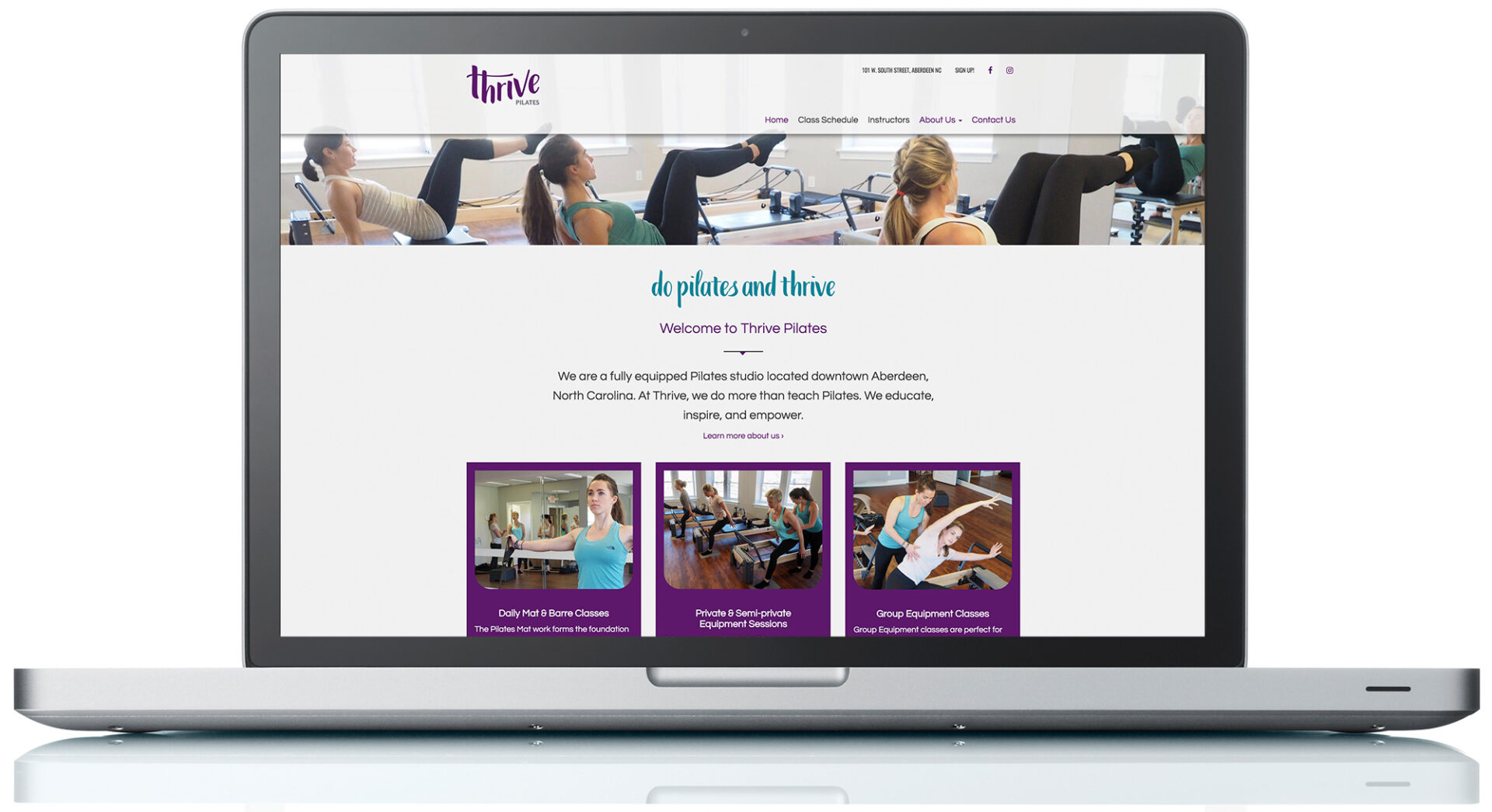 Thrive Pilates Website
