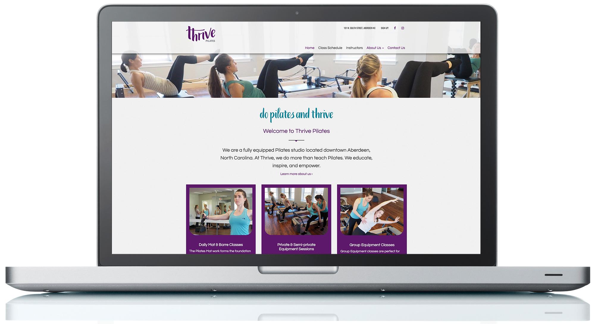 Thrive Pilates Website