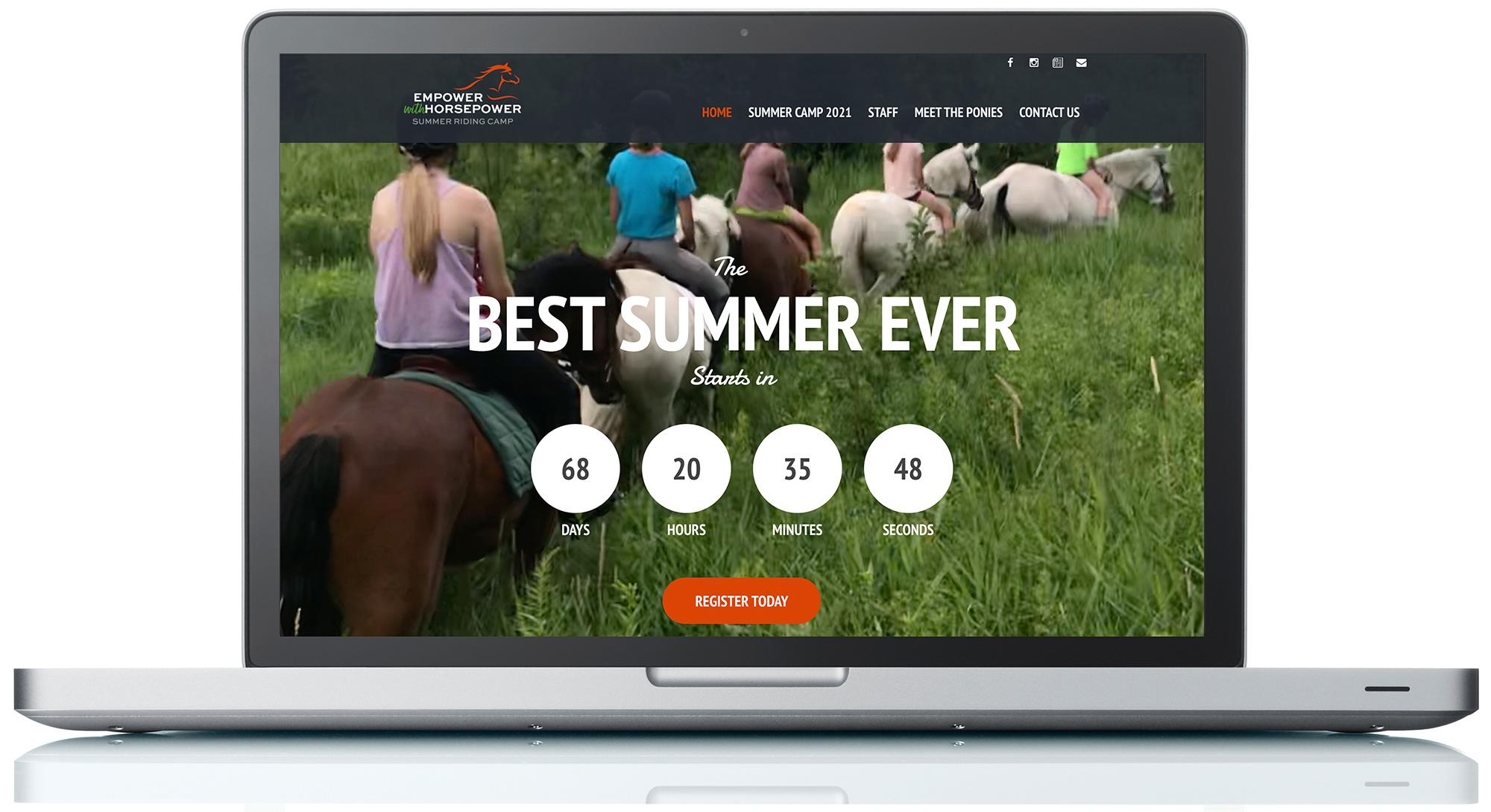 Empower with Horsepower Logo + Website Design